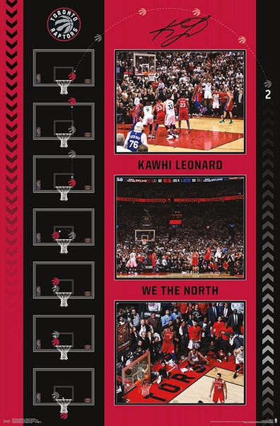 "Kawhi Leonard ""The Bounce"" (Game-7-Winning Shot) Toronto Raptors NBA Basketball Commemorative Poster - Trends 2019"