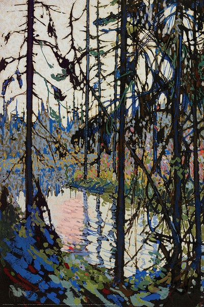 Study for Northern River Canadian Wilderness Art (1914) by Tom Thomson Group of Seven Poster Print - Eurographics Inc.