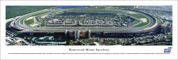 Homestead-Miami Speedway NASCAR Race Day Panoramic Poster - Blakeway