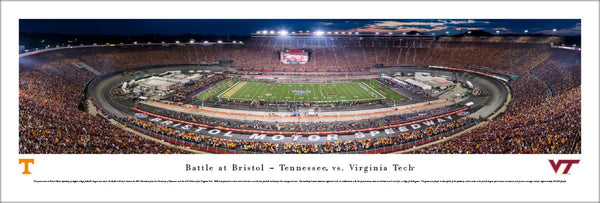 Battle at Bristol NCAA Football Game (Tennessee vs. Virginia Tech) Panoramic Poster Print - Blakeway