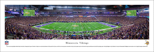 Minnesota Vikings US Bank Stadium Opener Panoramic Poster Print - Blakeway Worldwide