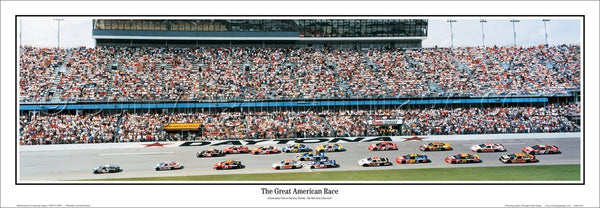 "Daytona Speedway ""The Great American Race"" Panoramic Poster Print - Everlasting Images 2003"