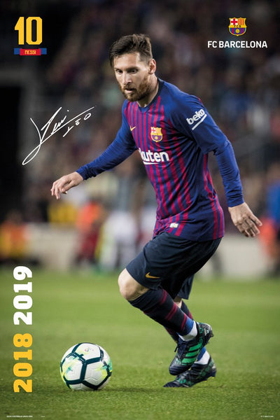 Lionel Messi FC Barcelona Soccer Signature Series Action Official Poster - GB Eye 2018/19