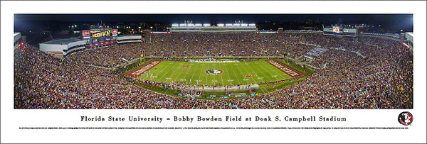 Florida State Seminoles Campbell Stadium Game Night Panoramic Poster - Blakeway 2013