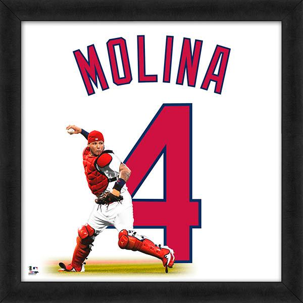 "Yadier Molina ""Number 16"" St. Louis Cardinals FRAMED 20x20 UNIFRAME PRINT - Photofile"