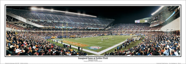 Chicago Bears Inaugural Game at Soldier Field (2003) Panoramic Poster Print - Everlasting Images