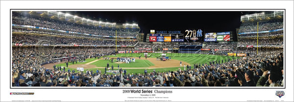 "NY Yankees 2009 World Series ""Celebration"" Yankee Stadium Panoramic Poster Print"