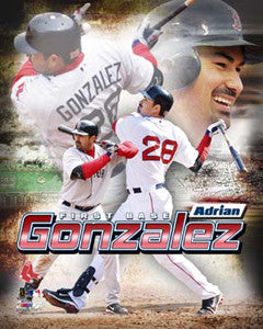 "Adrian Gonzalez ""Action-Packed"" Boston Red Sox Premium Poster Print - Photofile 16x20"