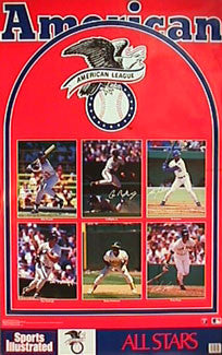 American League All-Stars 1989 Classic Baseball Poster - Marketcom/Sports Illustrated