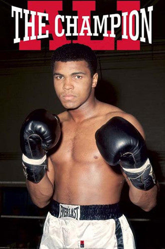 "Muhammad Ali ""The Champion"" Boxing Poster - Pyramid international"