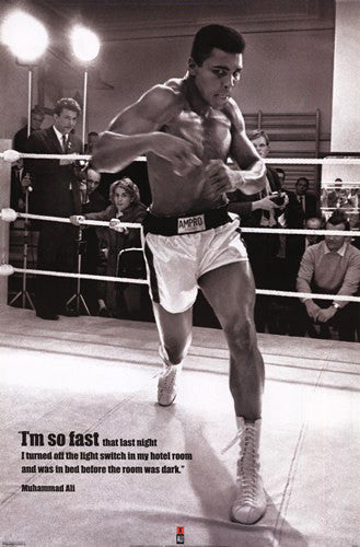 "Muhammad Ali ""I'm So Fast"" (Training Ring 1966) - Pyramid Posters"