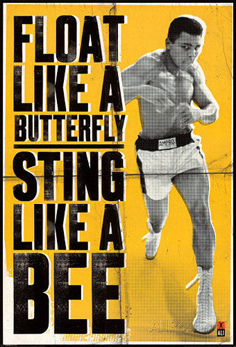 "Muhammad Ali ""Float like a Butterfly, Sting Like a Bee"" Boxing Poster - Pyramid"