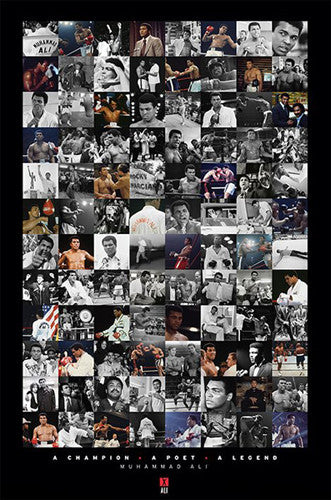 "Muhammad Ali ""96 Pics"" Career Collage Boxing Poster - Pyramid International"