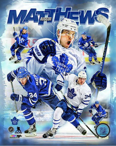 "Auston Matthews ""Hero"" Toronto Maple Leafs Premium Game Night Collage Poster - Photofile 16x20"