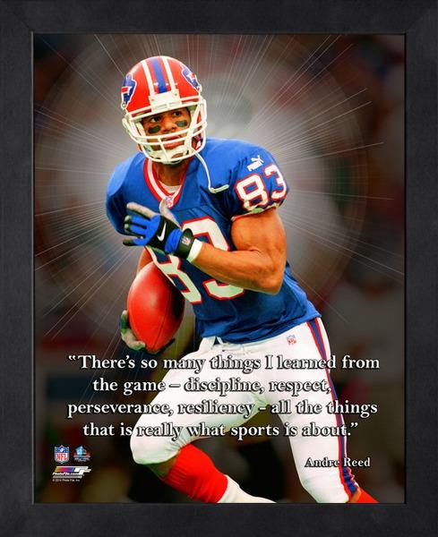 "Andre Reed ""What Sports Is About"" Buffalo Bills FRAMED 16x20 PRO QUOTES PRINT - Photofile"