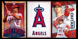 COMBO: Los Angeles Angels MLB Baseball 3-Poster Combo Set (Mike Trout, Ohtani, Team Logo Posters)
