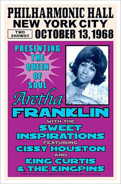 Aretha Franklin Live at Philharmonic Hall, NYC 1968 Concert Poster Recreation - Image Conscious