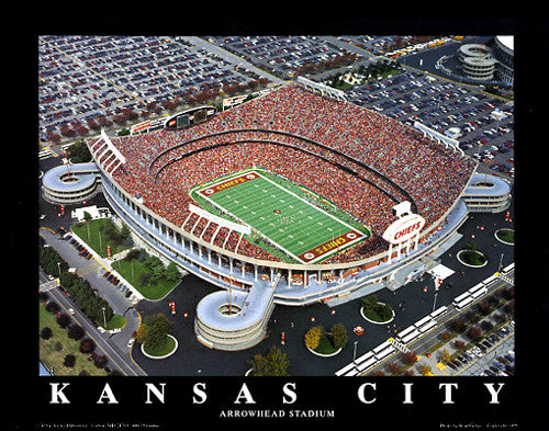 "Arrowhead Stadium ""From Above"" Kansas City Chiefs Premium Poster - Aerial Views"
