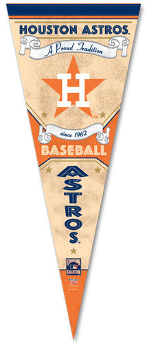 "Houston Astros ""Since 1962"" Cooperstown Premium Pennant"