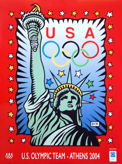"U.S. Olympic Team 2004 ""Liberty"" Poster by Burton Morris - Fine Art Ltd."