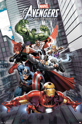 Avengers Assemble (All 7 Superheroes in Action) Marvel Comics Poster - Trends 2013