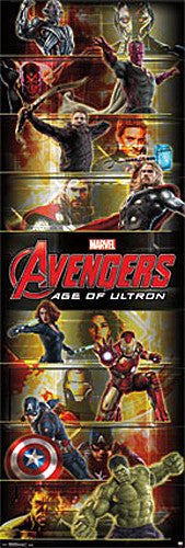 Marvel's Avengers Age of Ultron HUGE Door-Sized 8-Superheroes Poster - Trends International