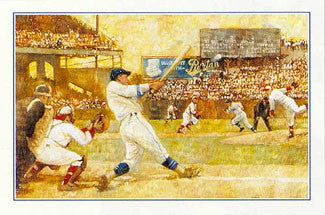 Classic Baseball Action Premium Art Poster Print by Paul Birling - Portal Publications 1995