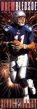 "Drew Bledsoe ""Revolutionary"" (Door-Sized) New England Patriots Poster - Costacos Brothers 1995"