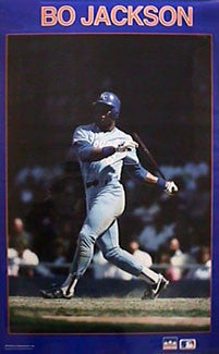 "Bo Jackson ""Home Run"" Kansas City Royals Poster - Starline Inc. 1987"