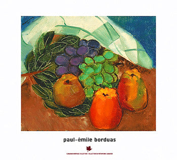"Paul-Emile Borduas ""Fruits and Leaves"" (1941) Art Poster Print"