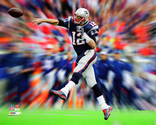 "Tom Brady ""Motion Blast"" New England Patriots Premium NFL Poster Print - Photofile Inc."