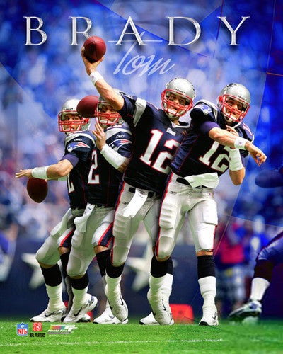 "Tom Brady ""Multi-Exposure"" Premium QB Action Print - Photofile Inc."