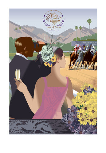 Official Poster of the 2013 Breeders' Cup Horse Racing Poster (Artist John Mattos) - JettStream