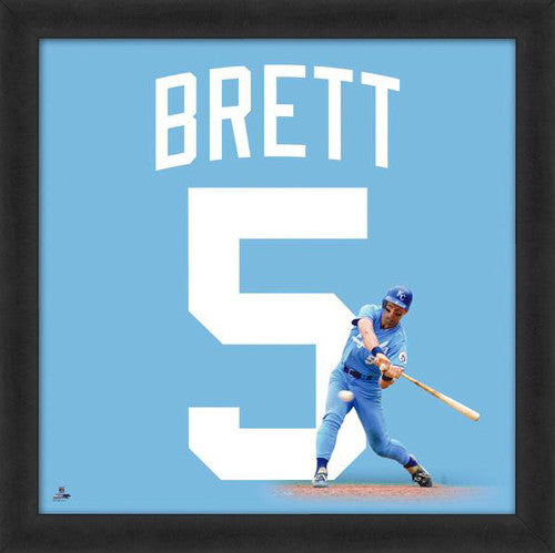 "George Brett ""Number 5"" Kansas City Royals FRAMED 20x20 UNIFRAME PRINT - Photofile"