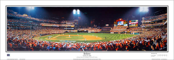 "St. Louis Cardinals ""Believe"" (2006 World Series) Busch Stadium Panorama - Everlasting Images"