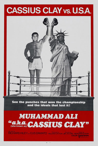 "Muhammad Ali ""a.k.a. Cassius Clay"" (1970) Boxing Movie Poster Reprint - Eurographics Inc."