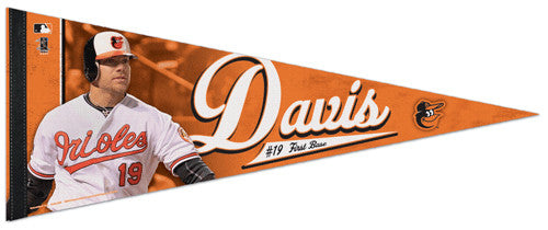 "Chris Davis ""Superstar"" Baltimore Orioles Premium Felt Collector's Pennant - Wincraft 2013"