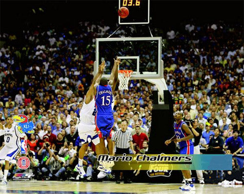 "Mario Chalmers ""The Shot"" (4/7/2008) Kansas Jayhawks Premium Poster Print - Photofile Inc."