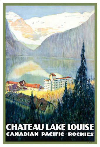 "Canadian Pacific Railway ""Chateau Lake Louise"" (c.1938) Poster Reprint - Eurographics"