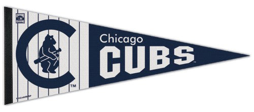 Chicago Cubs MLB Cooperstown Collection 1908-1914-Style Premium Felt Pennant - Wincraft