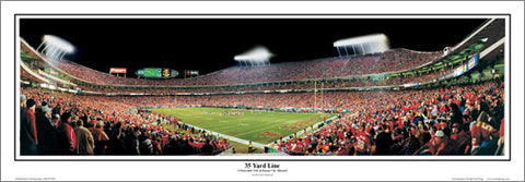 "Arrowhead Stadium ""35 Yard Line"" Panoramic Poster Print - Everlasting Images Inc."