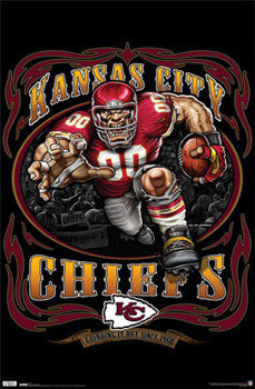"Kansas City Chiefs ""Grinding it Out Since 1960"" NFL Theme Art Poster - Costacos Sports"