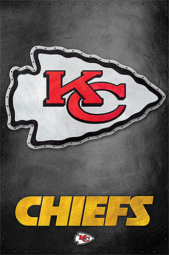 Kansas City Chiefs Official NFL Football Team Logo Poster - Costacos Sports