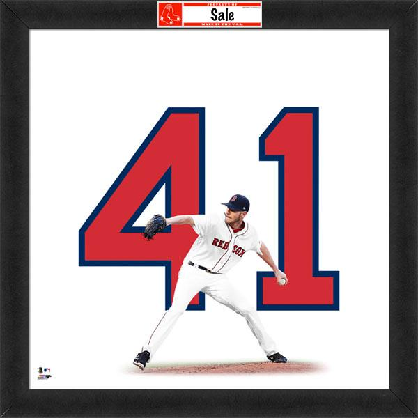 "Chris Sale ""Number 41"" Boston Red Sox FRAMED 20x20 UNIFRAME PRINT - Photofile"