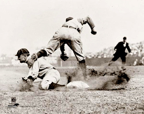 "Ty Cobb ""Stealing Third"" (1910) Detroit Tigers Conlon Collection Premium Poster Print - Photofile"