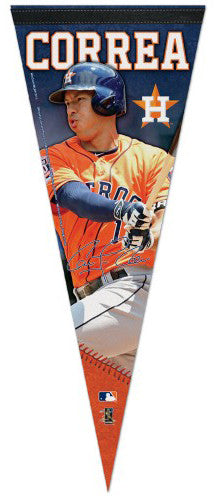 "Carlos Correa ""Signature Series"" Houston Astros Official MLB Premium Felt Pennant - Wincraft Inc."