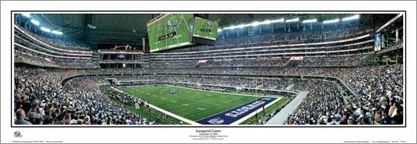 Dallas Cowboys Stadium Inaugural Game (2009) Panoramic Poster Print - Everlasting Images (TX-260)