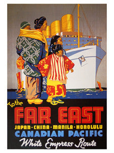 Canadian Pacific to the Far East (1936) Vintage Travel Poster Reprint