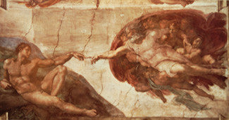 Michelangelo's Creation of Adam (Sistine Chapel Detail)