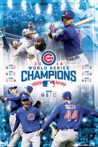 Chicago Cubs 2016 World Series CELEBRATION Championship Poster - Trends International